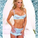 Elegant Moments baby blue bra and garter skirt