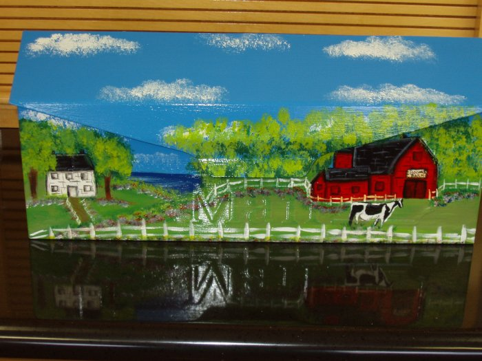 Hand Painted Wall Mount Mailbox Mailboxes With Barnyard Scene 22