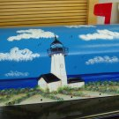 Hand Painted Mailbox Mailboxes With Lighthouse Design 18