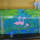 Hand Painted Mailbox Mailboxes With Flamingo Design T2 21