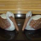 Pair of indoor or outdoor ceramic Pelican Planters or Flower Pots