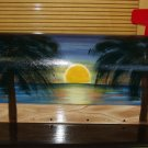 Handpainted Hand painted Mailbox Mailboxes with Beach Sunset Scene 13