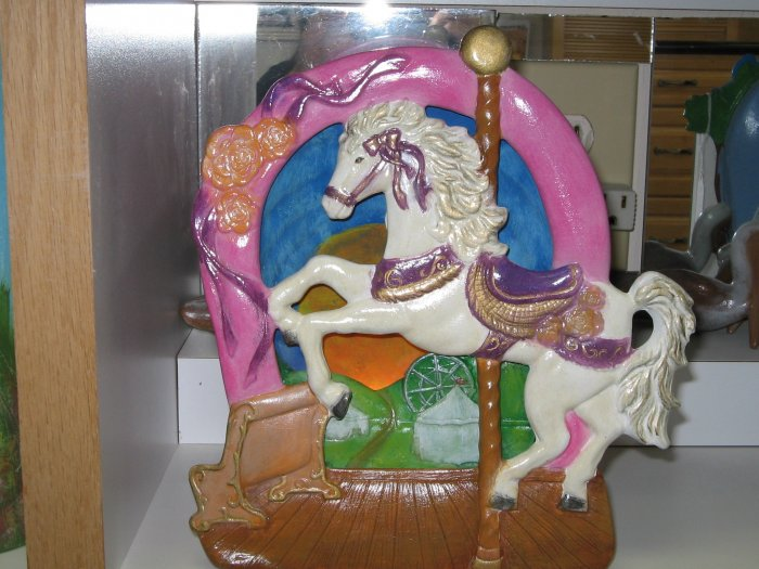 Carousel Horse Silhoutte Night Light Ceramic Handpainted