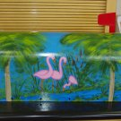 Hand Painted Mailbox Mailboxes With Flamingo's, Palm Trees And Cattails 23