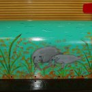 Handpainted Mailbox Hand Painted Mailboxes with Manatee Design 08