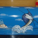 Handpainted Mailbox Hand Painted Mailboxes Sailfish Design T2 06