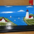 Handpainted Mailbox Hand Painted Mailboxes Lighthouse Design 01