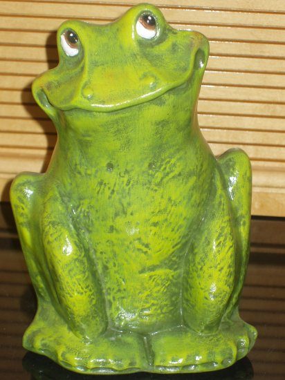 Ceramic Frog Indoor Outdoor Handpainted Hand Painted