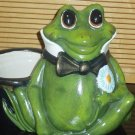 Large Ceramic Frog Planter Flower Pot Handpainted Hand Painted