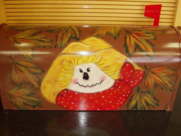 Hand Painted Mailbox Handpainted Mailboxes Scarecrow and Fall Leaves 28