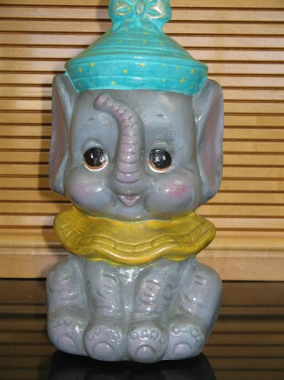 Handpainted Handcrafted Ceramic Banks Elephant Bank