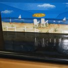 Wall Mount Mailbox Hand Painted Beach Scene Design Handpainted Mailboxes