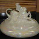Ceramic Unicorn Trinket Luster Glaze Gold Accent Large