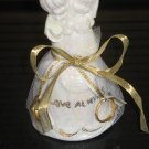 Ceramic Handcrafted Wedding Bell Favor Mint Filled