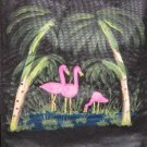 Large Grocery Tote Bag Reusable Tote Bag Flamingo's Hand Painted