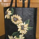Large Grocery Tote Hand Painted Sunflower Design Re-usable