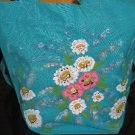 Mini Gift Tote Dasiy Floral Design Hand Painted Cotton