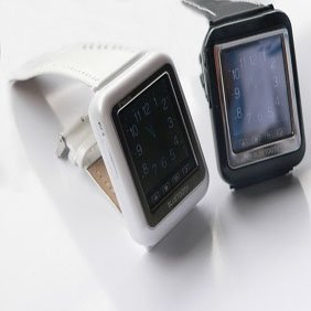 "Thinnest 1.3"" Screen Music Cell Phone Watch Aoke08"