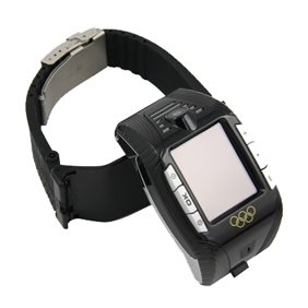 Red-Black Tri-band Cell Phone Watch F3