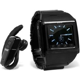 W600A Tri-Band Touch Screen Watch Phone Black