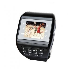 Q8 Black Quad Band Cell Phone Watch with Keyboard