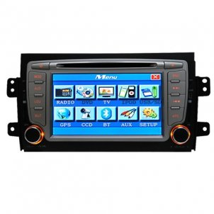 7.0 Inch 2 DIN Car DVD Player HL-8165GB with GPS Special for SUZUKI SX4