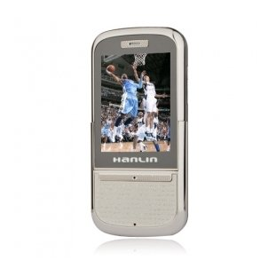 Hanlin 3Q Dual Card Bluetooth Slide Touch Screen Music Cell Phone Silver