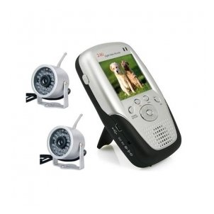 2.4Ghz 2.5 Inch Four Channel MP4 Baby Monitor with 2x Night Vision Camera