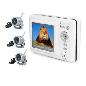 2.4GHz 4-channel wireless MP4 baby monitor Set with 3x Night Vision Wireless Spy Camera
