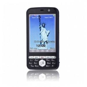 N6188+ Dual Card Quad Band with TV Function Flat Touch Screen Cell Phone Black