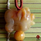 Chinese Piggy jade necklace pendant