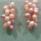 Freshwater cultured pearl drop earrings