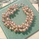 Freshwater cultured pearl bracelet, 8''