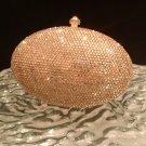 Evening bar purse with Swarovski crystal gold