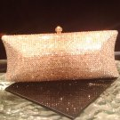 Swarovski crystal handbag evening bag purse 8''wide by 3''by2''