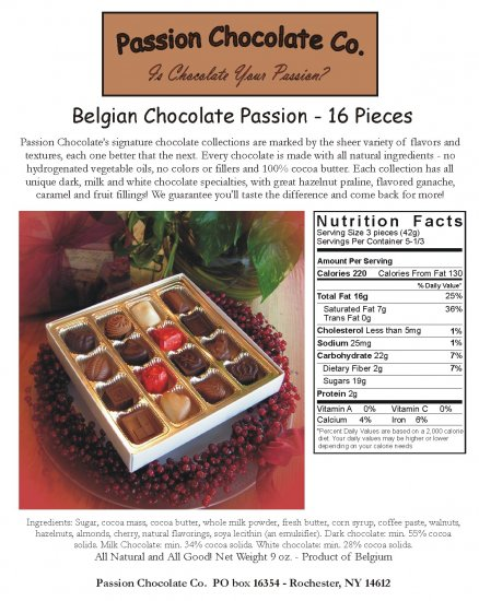 Gourmet Belgian Assortment 16 piece