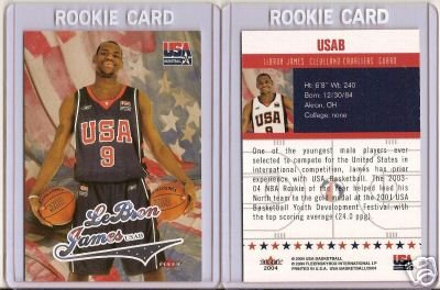 2004 LEBRON JAMES TEAM USA FLEER #USAB