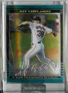 Jeff Verplancke San Francisco Giants 2002 Bowman Chrome Uncirculated Rookie Card