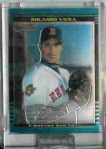 Rolando Viera Boston Red Sox 2002 Bowman Chrome Uncirculated Rookie Card