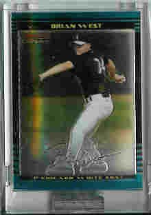 Brian West Chicago White Sox 2002 Bowman Chrome Uncirculated Rookie Card