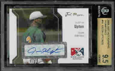Justin Upton Tampa Bay Devil Rays Just Signatures Auto BGS 9.5 /50