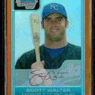 Scott Walter Kansas City Royals Bowman Chrome Orange Refractor RC SN#/25 BC3