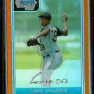 Luis Valdez Pittsburgh Pirates 2006 Bowman Chrome Orange Refractor RC SN#/25 BC21