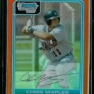 Chris Maples Detroit Tigers 2006 Bowman Chrome Orange Refractor RC SN#/25 BC45
