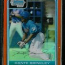 Dante Brinkley New York Mets 2006 Bowman Chrome Orange Refractor RC SN#/25 BC54