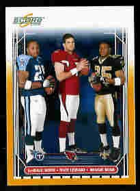 Reggie Bush & Matt Leinart & Lendale White USC Teamates 2006 Score Gold SN# /600