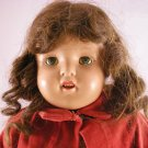 "OLD 20"" COMPOSITION DOLL W/ TEETH SLEEP EYES LASHES"
