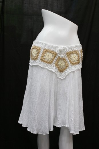 V crochet short skirt