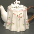 China Tea Pot - Miniature Tea Set on Lid - Mint Cond.