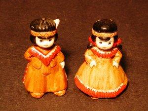 American Indian Boy & Girl Salt & Pepper Shaker